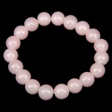 BJBS-008 Браслет из натурального камня Розовый кварц 10мм
