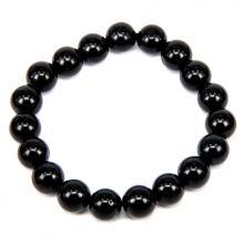 BJBS-013 Браслет из камня Чёрный агат (имитация) 10мм