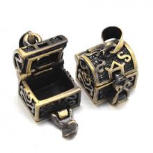 BJK017-02 Открывающийся кулон - шкатулка 14х12х14мм, металл, цвет бронзовый