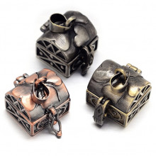BJK017-11 Открывающийся кулон - шкатулка 17х16х18мм, металл, цвет в ассорт.