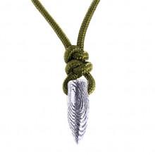 BJK060 Кулон на шнуре Пуля 25мм, цвет серебр.