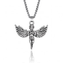 BJK156 Кулон Ангел на цепочке, 4х4,5см