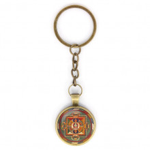 BK-ALK039 Брелок Авалокитешвара мандала, цвет бронз.