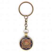 BK-ALK045 Брелок Будда медицины мандала, цвет бронз.