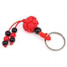 BK035-04 Брелок красный Лотос, пластик