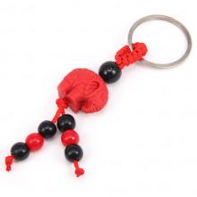 BK035-06 Брелок красный Слон, пластик