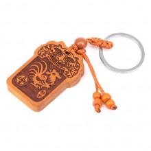 BK073-10 Брелок Восточный гороскоп - Год петуха, дерево