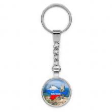 BKP024 Брелок Крым это Россия, металл, цвет серебр.