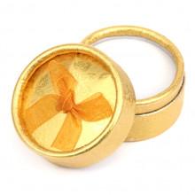 BOX004-2 Коробка для кольца круглая d.5,5см, h.3,6см, цвет золотой