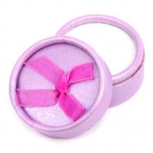 BOX004-4 Коробка для кольца круглая d.5,5см, h.3,6см, цвет сиреневый