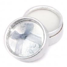 BOX004-5 Коробка для кольца круглая d.5,5см, h.3,6см, цвет серебряный