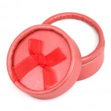BOX004-6 Коробка для кольца круглая d.5,5см, h.3,6см, цвет красный