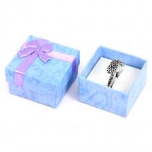 BOX005-3 Коробка для кольца квадратная 4х4х2,5см, цвет сиреневый