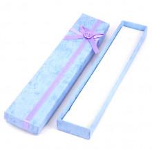 BOX006-3 Коробка для бижутерии 21х4х2см, цвет сиреневый