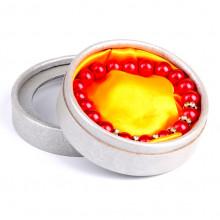 BOX010 Коробка для браслета круглая 8,5х3,5см, внутр.диаметр 7,5см, цвет серебр.
