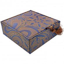 BOX011-2 Коробка для браслета 10х10см, цвет синий