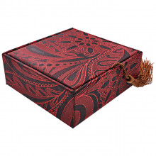 BOX011-3 Коробка для браслета 10х10см, цвет красный