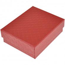 BOX012-5 Коробка для бижутерии 9х7х3см, цвет красный