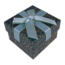 BOX014-06 Коробка для колец, 3х5х5см, цвет изумрудный
