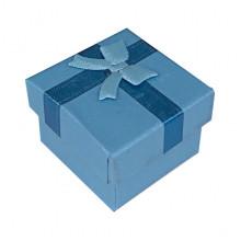 BOX018-02 Коробка для колец, 2,5х4х4см, цвет голубой