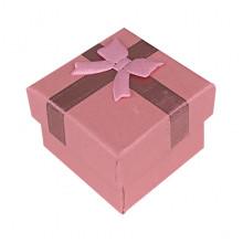 BOX018-05 Коробка для колец, 2,5х4х4см, цвет розовый