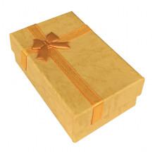 BOX021-02 Коробка для бижутерии, 2,5х5х8см, цвет жёлтый