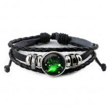 BS261-06 Светящийся кожаный браслет Знаки Зодиака - Овен
