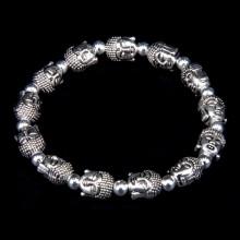 BS319 Стрейч - браслет Голова Будды, металл