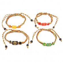 BS323MIX Буддийский браслет с мантрой, цвет в ассорт.