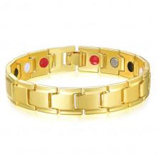 BSM012-4 Магнитный Браслет здоровья, цвет золот., ширина 11мм