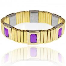 BSM017-3 Магнитный браслет 15мм, цвет фиолетовый