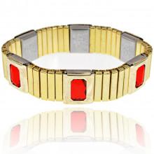 BSM017-4 Магнитный браслет 15мм, цвет красный