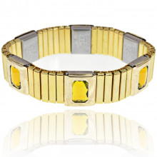 BSM017-5 Магнитный браслет 15мм, цвет жёлтый