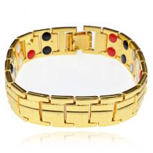 BSM018-2 Магнитный браслет, 20см, цвет золотой