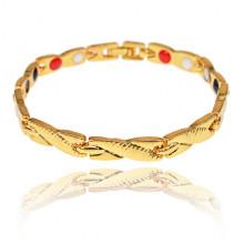 BSM022-3 Магнитный браслет, 20,5см, цвет золотой