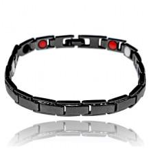 BSM024-1 Магнитный браслет, 19,5см, цвет чёрный