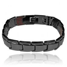 BSM027-1 Магнитный браслет, 21,5см, цвет чёрный