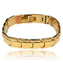 BSM027-2 Магнитный браслет, 21,5см, цвет золотой
