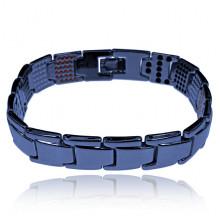 BSM027-3 Магнитный браслет, 21,5см, цвет синий