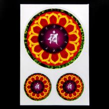 BUD004-10 Буддийские наклейки 1шт.х6см, 2шт.х2,7см