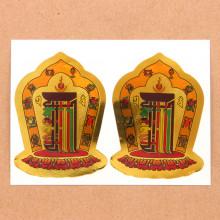 BUD004-21 Буддийские наклейки Калачакра 7см, 2шт