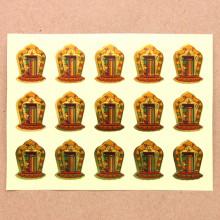 BUD004-22 Буддийские наклейки Калачакра 2,2см, 15шт.