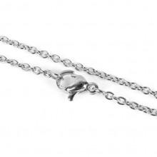CN001S Тонкая цепочка для кулона 45см, нержавеющая сталь, цвет серебро