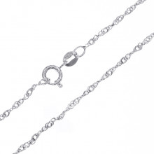 CN003-1 Тонкая цепочка для кулона 43см, нержавеющая сталь