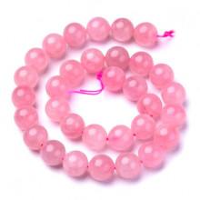 FB10-015 Бусины Розовый кварц 10мм на нити