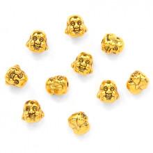 FBM0012G-10 Бусины металлические Хотей 10х10мм, отверстие 1мм, цвет золот., 10шт.