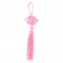 FEP018-07 Подвеска Фэн-Шуй Узел 21см, цвет розовый
