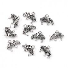 FP0062S-10 Подвески для бижутерии Слоник 13х17мм, 10шт, цвет серебр.
