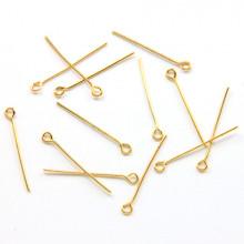 FPN0001G-10g Пины для бижутерии с колечком 22мм, цвет золото, 10гр, ~103шт.