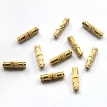 "FZ0001G-10 Замок (застежка) для бижутерии ""Закрутка"" 15мм, цвет золото, 10шт."